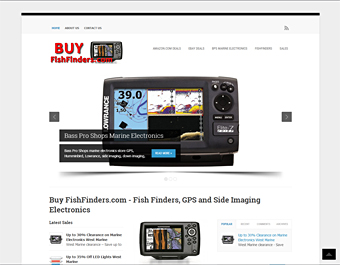 BuyFishfinders.com thumbnail screenshot of the website home page