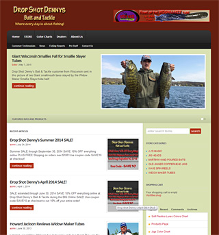 Screenshot thumbnail of theDropShotDennys.com a simple yet effective e-commerce website