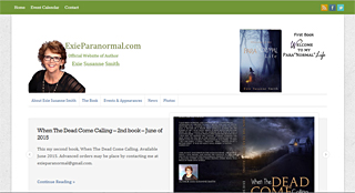 Thumbnail screenshot of the Exieparanormal.com website