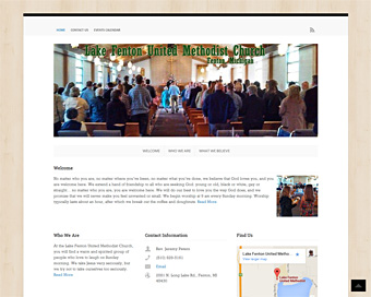 Screenshot thumnail of LakeFentonUMC.org website