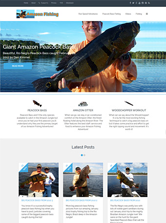 Thumbnail screenshot of the Amazon Fishing dot net website