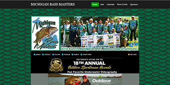Thumbnail screenshot of the Michigan Bass Masters club website