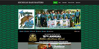 Thumbnail screenshot of the Michigan Bass Masters club website