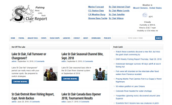 Thumbnail screenshot of the St. Clair Report website